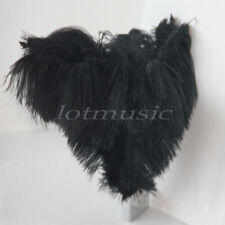 10Pcs Natural Black Ostrich Feathers For Wedding Decorations 12~14 inch Length