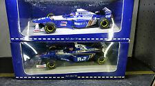(2) TWO 1/18 Williams Renault FW18 AND FW19 Jacques Villeneuve 96 -97 MINICHAMP