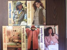 Lot of 5 Stitch by Stitch Torstar Books Sewing Knitting Crochet Needlecraft  1-5