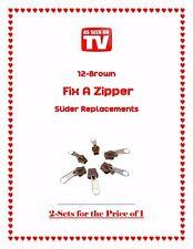 12-Brown Fix A Zipper As Seen on TV  SHIPPING USA SELLER