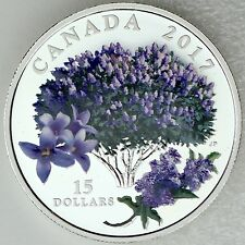 Canada 2017 $15 Celebration of Spring: Lilac Blossoms Pure Silver Color Proof