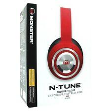 New Monster Ntune Noise Isolation On Ear Headphones Red Rouge