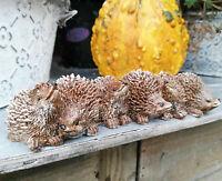 Igelfamilie Igel Dekofigur Garten Dekoration Hedgehog Figur Statue Herbstdeko