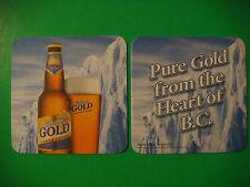 2008 Beer Bar COASTER ~*~ KOKANEE Gold Lager ~ Creston, British Columbia Brewery
