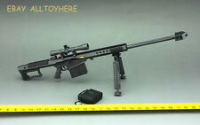 BattleField  1:6  1/6 Weapon Gun Barrett M82A1  Full Metal Sniper Rifle Black