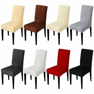 Solid Color Stretched Chair Cover Events Spandex Fabric Restaurant Hotel Banquet