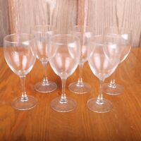 6 Clear Glass Wine Goblets Water Cups
