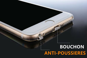 COQUE HOUSSE GEL SILICONE PROTECTION IPHONE 8/7/Plus/6/6S/PLUS X avec BOUCHON