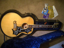 1998 ELVIS PRESLEY Signature GIBSON J-200 LTD Edition Natural Acoustic Guitar !!