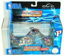 DETROIT PISTONS NBA BASKETBALL TOY DIECAST MOTORCYCLE ERTL 1:18 OCC CHOPPER 2005
