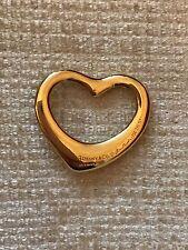 Tiffany and Co Elsa Peretti Open Heart 18ct Gold Pendant