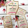 Personalised Wedding Invitations • Vintage Day Evening Invites Inc Envelopes