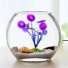 Purple Artificial Aquarium Fish Tank Plastic Plant Water Grass Decor Ornament