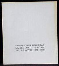 Donaciones Recibidas Musée des Beaux-Arts de Buenos Aires 1975-79