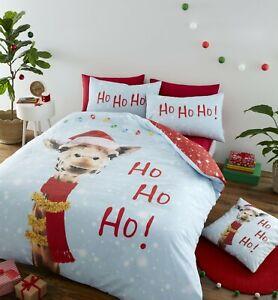 Catherine Lansfield Christmas Giraffe Duvet Cover Bedding Set Multi