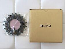 "NIB! RUCINNI SWAROVSKI 5"" Crystal Christmas Gift Picture Photo Frame Silver Bird"