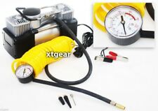 12v Mini Metal Air Pump Portable Compressor Tire Inflator w/ Hose & Bag + Gauge