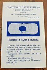 """Comitato Difesa """"CORREDO DEL SOLDATO"""" CORPETTO cartolina militare WAR 1915 WWI"""