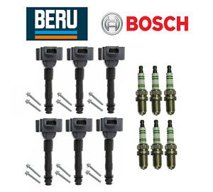 OEM Ignition Coil Beru & Spark Plug Bosch (6 Sets) Porsche 911 Boxster Cayman
