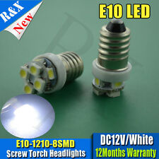 2x DC12V E10 Torch LED Bulbs Screw Fit Replaces Interior Gauges For Classic Cars