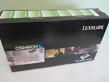 NEW SEALED LEXMARK C5246CH(CYAN) HIGH YIELD TONER CARTRIDGE FOR C524 C532 C534