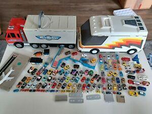 Konvolut Micro Machines Galoob Roadchamps u.a. Autos Playset Autokoffer Zubehör