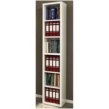 Libreria modulare sei spazi mensole stretta laccata bianco LB7071 L44h220p36