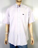 euc Faconnable Light Periwinkle SS Button Down Dress Shirt sz L