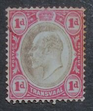 Transvaal 1902 1d King Edward Vii Very Fine Used