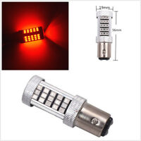 2 Pcs 1157 BAY15D 66-SMD Red LED Auto Car Brake Light Tail Flashing Strobe Bulbs