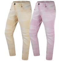 New Men Denim Biker Stacked Jeans Joggers Pants Elastic Stretch Twin Needle S-3X