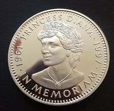 LIBERIA PROOF SILVER COIN COMMEMORATING PRINCESS DIANA 1961-97 with PORTRAIT