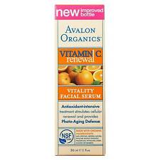 2 X 30ml Avalon Organics Intense Defense With Vitamin C Facial Serum 60ml
