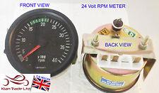 80mm vintage 24V Voiture Camion Bateau Auto Marine PGR jauge compteur 4k tachometer-m621a