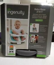 Ingenuity Baby Base 2-in-1 Booster Seat, Slate, Chair, Tray Grow with baby 4M-4Y