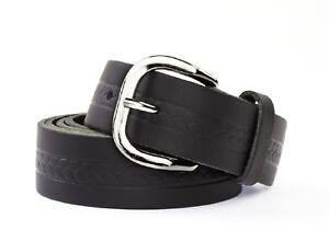 Ledergürtel 3cm schwarz und braun in verschiedenen Längen für Damen und Herren