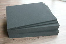 2x Rasterschaumstoff Würfelschaumstoff Fotokoffer 500x400x60mm incl Bodenplatten