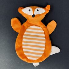 Boppy Orange Felix Fox Lovey Toy Blanket White Stripes Crinkle Gentle Forest