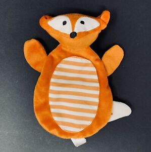 Boppy Orange Felix Fox Lovey Toy Blanket White Stripes Crinkle Gentle Forest