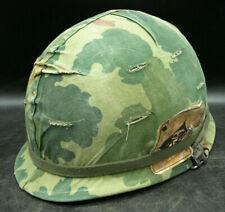 Org US Military Army Marine Vietnam M-1 Steel Pot With Fiber Helmet Liner (T1)
