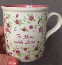 Vntg 1985 Enesco Tea Cup Coffee Mug Floral To Mom With Love