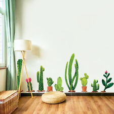Cactus Potted Bedroom Living room Art Wall Poster Removable Vinyl Wall Stickers