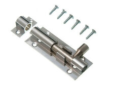 """PKS OF 50 X DOOR BOLTS SECURITY 38MM 1 1/2"""" CHROME. COMPLETE WITH SCREWS."""