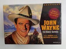 John Wayne 10 Video Series VHS Color Great Western Classics Box Set Sealed New