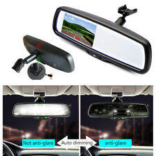 "Car 4.3"" Auto Dimming TFT LCD Rear View Mirror Monitor Backup 2CH Video+Bracket"