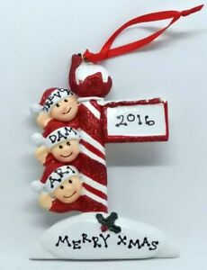 Personalised Christmas Decoration/Ornament - Pole Family