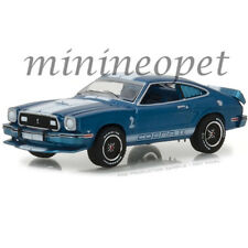 GREENLIGHT 13210 E 1976 FORD MUSTANG COBRA II 1/64 BLUE with WHITE STRIPES