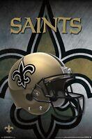 NEW ORLEANS SAINTS - HELMET LOGO POSTER - 22x34 NFL FOOTBALL 15446