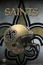 NEW ORLEANS SAINTS - HELMET LOGO POSTER - 22x34 NFL FOOTBALL 15446