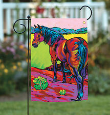 NEW Toland - Pop Art Horse - Bright Colorful Colt Pony Desert Scene Garden Flag